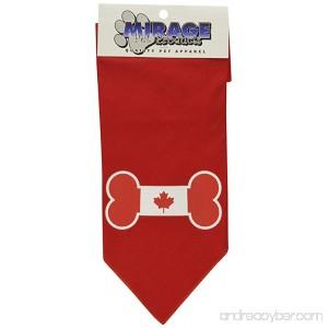 Mirage Pet Bone Flag Canadian Screen Print Dog Bandana - B00ARCKF1A