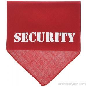 Mirage Pet Security Screen Print Dog Bandana - B0085EXBMC