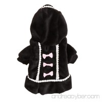 NEARTIME Puppy Clothes  Dog Coat Jacket Pet Outfit Winter Apparel Yorkie Garment (L  Black) - B01N0M8IZF