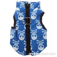 Pet Clothes - TOOGOO(R)Clothing for winter duvet Dog Cat Warm Padded Jacket Bib Rose Red XS - B01LWIHVWA