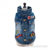 Pet Clothing Littleice Cowboy Coat Jeans Jackets Dog Puppy Clothing Pet Supplies - B075ZR5WJL