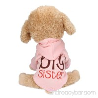 """Pet Dog Hooded Clothes Pet Dog Hoodie Sweater Coat Puppy Lovely """"Big Brother/Sister"""" Print Winter Warm Hoodie Jacket Sweater Shirt Coat Apparel for Small Dogs - B078FSWW8J"""