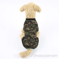 Q Dou Pet Stylish Army Green Camouflage Dog Shirts Jumpsuit for Pet Camo Clothes Summer Apparel - B0789DPSR1