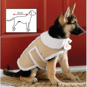 Shearling Fleece Dog Winter Coat Small by Collections Etc - B00FCLVJIE
