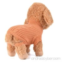 Small Dog Girl Sweater Wakeu Winter Warm Puppy Clothes Coat Costume - B077TP49WT