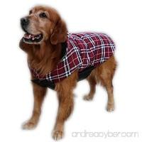 ThinkPet British Style Reversible Plaid Winter Coat Waterproof Dog Jacket - B019Q49URY