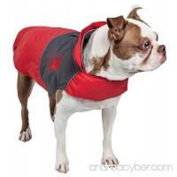Touchdog Lightening-Shield Waterproof 2-in-1 Convertible Dog Jacket w/ Blackshark technology - B00W97KRZK