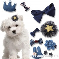 10 Pcs/Set Dog Hair Clips Small Bowknot Pet Grooming Products Mix Colors Varies Patterns Pet Hair Bows Dog Accessories by HONGTIAN - B0736WCR34