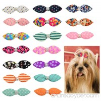 10pcs/pack Mix Colors Dog Hair Clips Pearls Centre Pet Dog Grooming Bows Supplies Pet Hair Clips Teddy Exquisite Rabbit Ears Dog Hair Accessories - B00WTSI5ZI