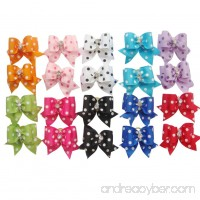 20 pcs New Lovely Dog Cat Puppy Hair Bow Ribbon Headdress Hair Accessory - B00R5YE4F6