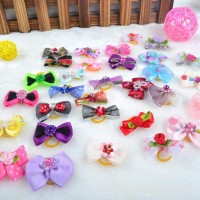 Adarl 20 Pcs Handmade Grooming Accessories Products Bow Hair Flower Bowknots For Puppy Pet Dog Cat - B01M29ZUAJ