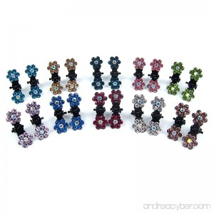 Alfie Pet by Petoga Couture - Dasie Rhinestone Flower Hair Clip 20-Piece Set for Dogs Cats and Small Animals - B01MTMQLAQ