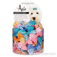 Aria 48 Piece Cute Chevron Dog Bow Canister - B00UX0BG0U