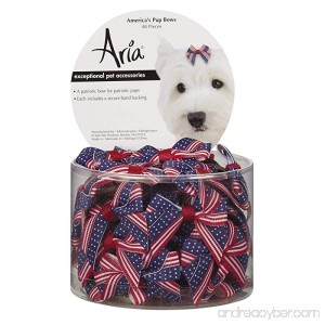 Aria America's Pup Bows for Dogs 48-Piece Canisters - B00BJB9ERO