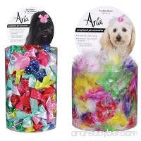 Aria Dot Ribbon Bows for Dogs 100-Piece Canisters and Feather Bows for Dogs 100-Piece Canisters - B01LO5RWKU