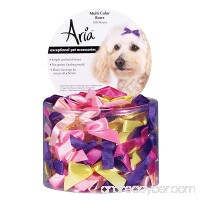 Aria Multi-Colored Bows for Dogs  100-Piece Canisters - B0007RUH0O