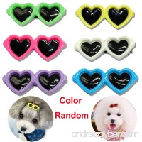 Boutiages Multicolor Dog Cat Plastic Sunglass Hairpins Hair Barrette Heart Shape Pet Hair Clips - B07DMDPDZ8