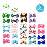 Carykon 30 PCS Pet Hair Bow with Rubber Bands for Yorkie Small dogs  assorted colors - B07C2KFKY9