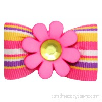 Hot Bows Bloomin' with a French Clip for Dogs - B00CDMEPTA