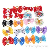 Pet Dog Hair Bows Accessories With Rubber Bands Pack Of 20 - B00P8UW7LW