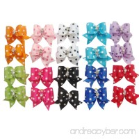 PET SHOW Dot Hair Bows with Rubber Bands Pet Hair Bows Cat Puppy Grooming Accessories Assorted Color Assorted Pack of 10 - B011I2RB0U