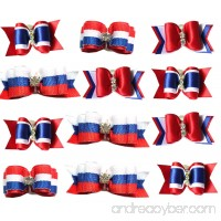 Yagopet 20pcs/10pairs US Independence Day Dog Hair Bows Rubber Bands the fourth of July Small Bowknot Pet Grooming Products Accessories - B0722QG8VH