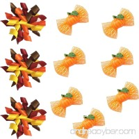 Yagopet 20pcs/pack Dog Hair Bows Halloween Designs Dog Curves Bows and Pumpkin Halloween Bows with Rubber Bands Dog Topknot Bows Pet Dog Grooming Bows Supplies Dog Hair Accessories - B01KV1RJGA