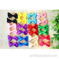 Yagopet 60pcs/30pairs Popular Dog Hair Bows Mixed Solid Colors Topknot with Rubber Bands Durable Small Bowknot Pet Grooming Products Dog Hair Accessories - B0195ZNP8Y