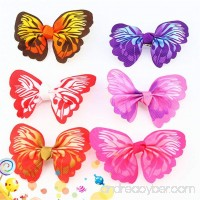 Zeroyoyo 5pcs Puppy Dog Hair Clips Small Bowknot Butterfly with Tiny Alligator Clips Pet Grooming Hair Bows Accessories - B073XKBZBF