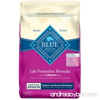 Blue Buffalo Life Protection Formula Natural Senior Small Breed Dry Dog Food - B00YFZ4QQA