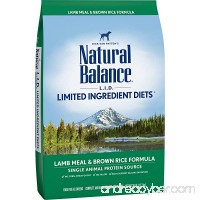 Natural Balance Limited Ingredient Diets Dry Dog Food - Lamb Meal & Brown Rice Formula - B0019CW0HE