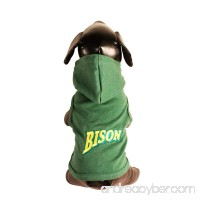 All Star Dogs NCAA North Dakota State Bison Collegiate Cotton Lycra Hooded Dog Shirt - B005EQIBGA