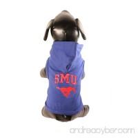 All Star Dogs NCAA SMU Mustangs Cotton Lycra Hooded Dog Shirt - B005EV8DYK