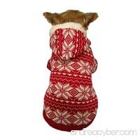 Anima Red Snowflake Hoodie for Pets - B00BBJA5I6