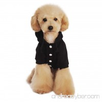 Cute Cartoon Soft Warm Coral Fleece Pet Hoodie Coat Jacket Winter Autumn No Cold Thick Velvet Adjustable Hooded Clothesr Jumpsuit Outfit Christmas Costume Apparel for Puppy Teddy Dogs Cats - B01KHU1JCU
