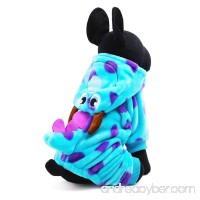Dog Cat Dinosaur Costume With Hood Funny Dog Flannel Jumpsuit Cloth Party Cosplay Apparel - B074TDJY43