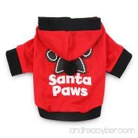 DroolingDog Christmas Dog Shirt Small Pet Santa Hoodie Dog Costume for Small Dogs - B074QLSMB3