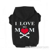 "JIEYA Small Dog Hoodie Pet ""I LOVE MY MOM"" Printed Sweatshirt Pullover Coat for Puppy - B06VV98HHP"