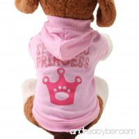 LOVELYIVA New Pink Pet Dog Clothes Crown Pattern Puppy Clothing Coat Hooded Cotton T Shirt - B01L8Y2X2E