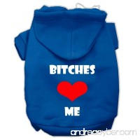 Mirage Pet Products 20 Bitches Love Me Screen Print Pet Hoodie - B00UFSVCVI