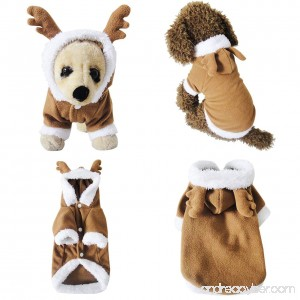 Mogoko Fancy Style Adorable Elk Reindeer Pet Costume Festival Dress Clothing Daily Wearing Outfit Hoodie Coat for Dogs and Cats - B01MF5R6NR