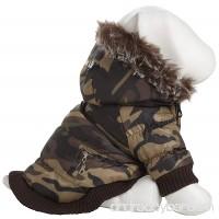 Pet Life Fashion Parka with Removable Hood - B003ULMNE2