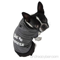 Ruff Ruff and Meow Dog Hoodie Big Brother Black Small - B005BVWCY0