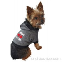 Ruff Ruff and Meow Dog Hoodie  I Have 2 Daddies  Black  Small - B005BVX73K
