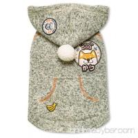 Touchdog Hippie Embellished Designer Sleeveless Pompom Pet Dog Hooded Sweater - B076ZQN5VM