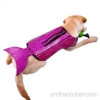 Bonaweite Dog Life Jacket Dogs Lifesaver Pet Life Preserver for Doggie Swimming Pets Floatation Jackets Safety Reflective Vest Adjustable Belt at Beach Pool Boat - B07CBW3Y5H