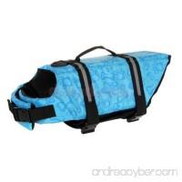 Dog Lifesaver Safety Reflective Vest  Pet Life Jacket Size Adjustable Preserver Saver Life Vest Coat for Swimming Surfing Boating Hunting - B07B6M54FD