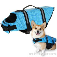 IN HAND Dog Life Jacket  Adjustable Reflective Safety Dog Life Vest Good for Water Safety at the Pool  Beach  Boating  Dog Lifesaver - B07BDFSZ6Y
