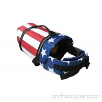 KING Pup Dog Life Jacket - American Flag Life Vest for Puppies and Dogs. Safe and Secure with Extra Padding and American Flag Design - B073PFZFRV