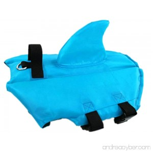 LICK LIP Dog Life Jacket Vest With fin for Swim Safety Pet Life Preserver for Pool Beach Water Activity - B07FJMW6DJ